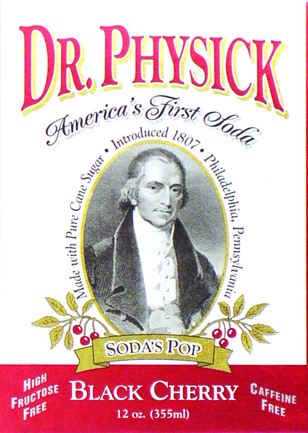 close-up of soda label